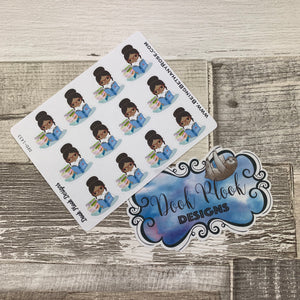 Black Woman - Reading Book Stickers (DPD1433)