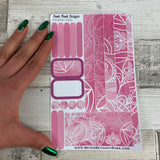 (0010) Passion Planner Daily stickers - Pink reflections
