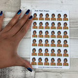 To call / pop art black girl stickers (DPD1081)