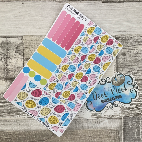 (0363) Passion Planner Daily stickers - Bold Easter Eggs
