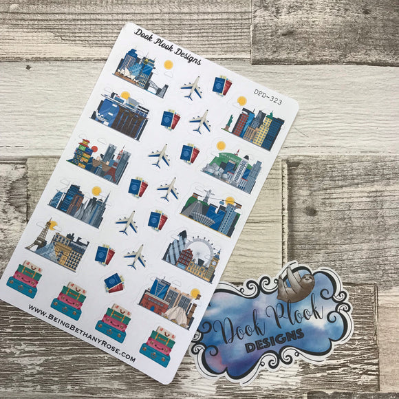 Wanderlust city stickers (DPD323)
