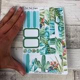 (0049) Passion Planner Daily stickers - Watercolour Cactus