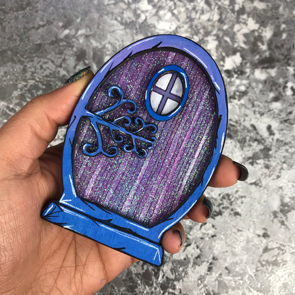 Purple sparkly Fairy Door