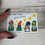 St Davids Day / Wales Gonk stickers (Small Sampler Size) A784