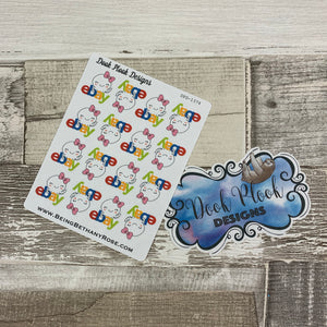 Octopus Character ebay shopping stickers (DPD 1374)
