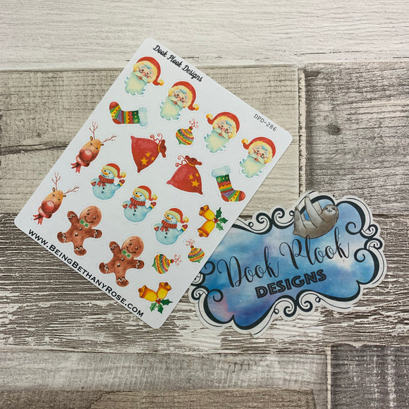 Water colour Christmas stickers (DPD286)