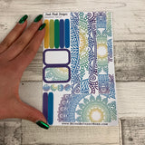 (0015) Passion Planner Daily stickers - Mandala reflections