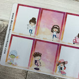 Mixed character White Woman Full Box Stickers (DPD1426)