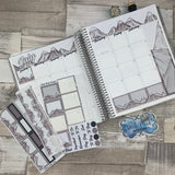 Handdrawn Mountains (can change month) Monthly View Kit for the Erin Condren Planners