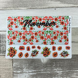 Poppies Monthly View Kit (can change month) for the Erin Condren Planners