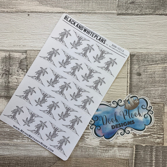 Palm tree / Beach / Holiday stickers (BNWP0016)