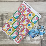 Easter Eggs half box stickers (DPD2031)