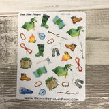 Water colour camping stickers (DPD615)