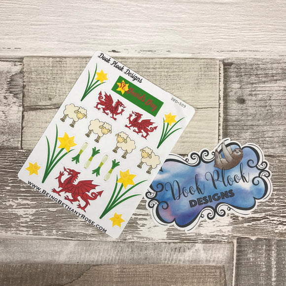St David's Day / Wales stickers (DPD509)