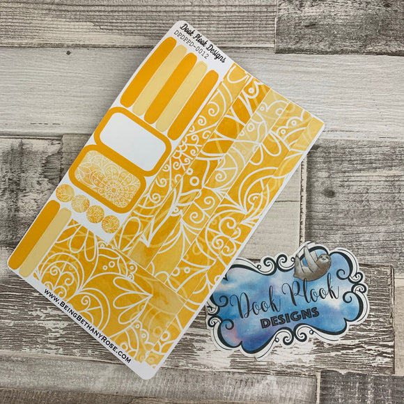 (0012) Passion Planner Daily stickers - Yellow reflections