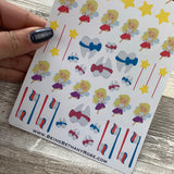 Tooth fairy stickers for Erin Condren, Plum Paper, Filofax, Kikki K (DPD322)