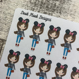 White Woman - Mouse Ears (Holiday)  Stickers (DPD1442)