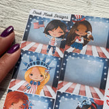America / July 4th / Independence Day (can change month) Monthly View Kit for the Erin Condren Planners