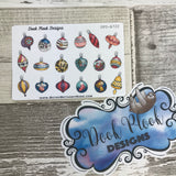 Christmas Baubles / Ornaments stickers (Small Sampler Size) A722