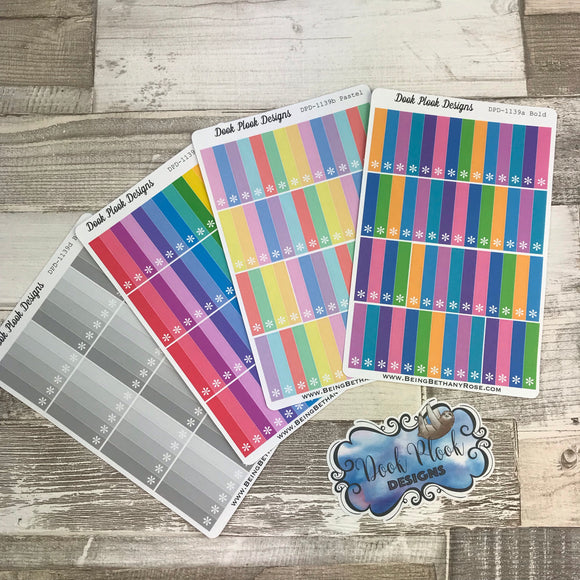 Thin asterisk rainbow tab stickers (DPD1139)