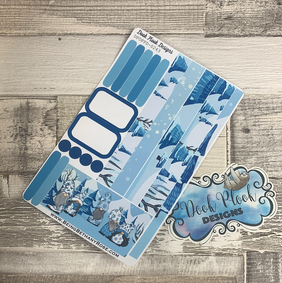 (0243) Passion Planner Daily stickers - Gonk Winter Wonderland