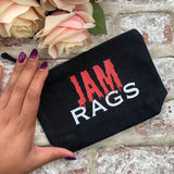 Jam Rags (Red and White)- Tampon, pad, sanitary bag / Period Pouch