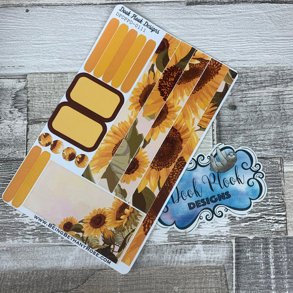 (0111) Passion Planner Daily stickers - Sunflowers