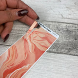 Passion Planner Hour Cover up / Washi strip stickers (Peach Marble DPDW-5)