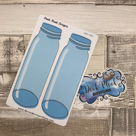 Large mason jar stickers (DPD498)