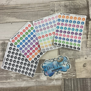Tiny knife and fork / meal / food plan stickers (Dinkies) (DPD-D018)