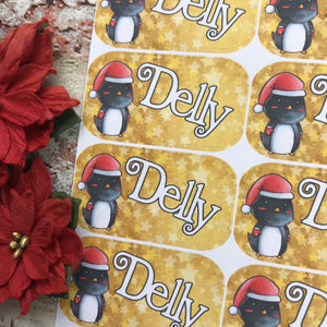 Personalised kids / adults Christmas Present Labels. (54 Penguin)