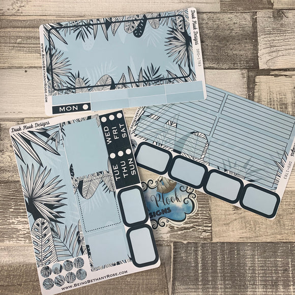 Blue Leaves Passion Planner Week Kit (DPD1783)