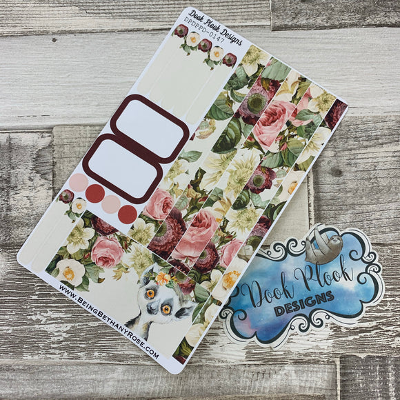 (0147) Passion Planner Daily stickers - Bushbaby Watercolour