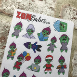 Zombabe Mixed Sampler sheet stickers (ZB00)