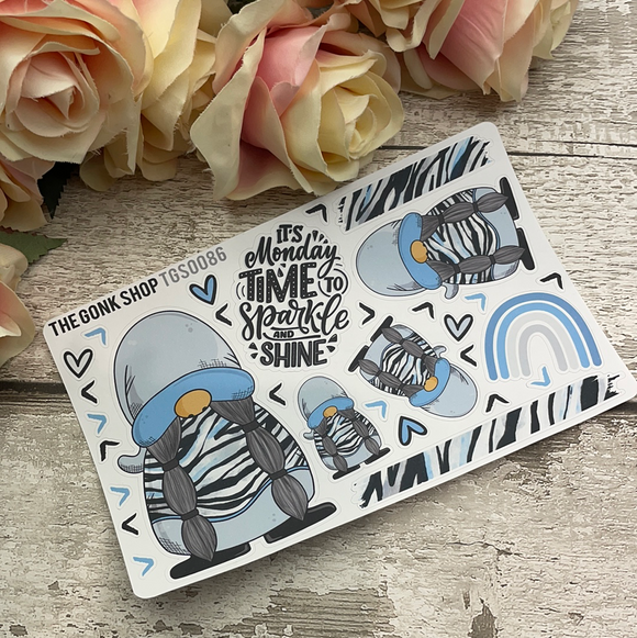 Blue Zebra Stickers Gretel (TGS0086)
