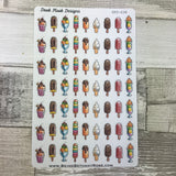 Watercolour ice cream stickers(DPD638)