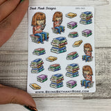 Reading Book (White Woman) stickers  (DPD583)