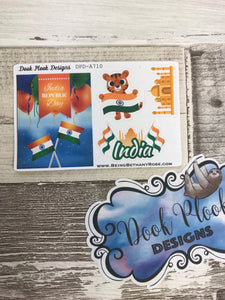 India Republic Day stickers (Small Sampler Size) A710