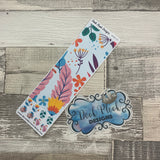 Passion Planner Hour Cover up / Washi strip stickers (Bright Flowers DPDW-43)