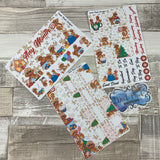 Gingerbread Monthly View Kit (can change month) for the Erin Condren Planners