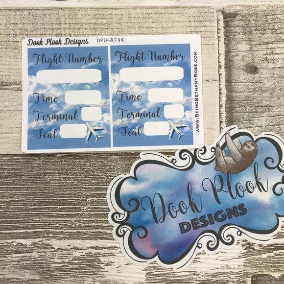 Flight Tracker stickers (Small Sampler Size) A744