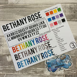 Personalised name stickers for planners (Matte, Gloss or Foil, 28 different colours) 0003-Brass