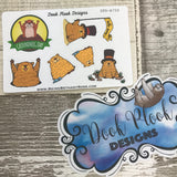 Groundhog Day stickers (Small Sampler Size) A750
