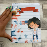 Erin Condren Month Note Pages (July 4th / Independence Day / America)