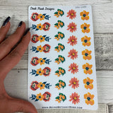 Tropic flower decoration stickers  (DPD1688)