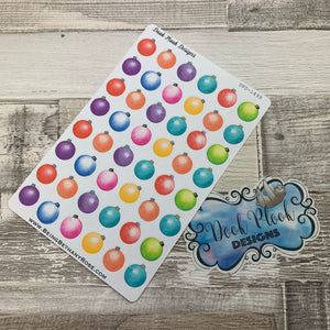 Christmas baubles (water colour) stickers (DPD1499)