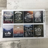 Wanderlust full box quote stickers for Erin Condren Vertical (DPD 1304)