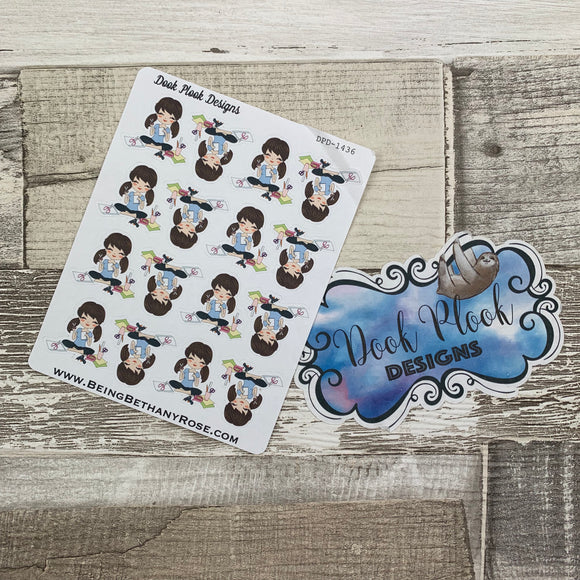 White Woman - Crafter / Craft stickers (DPD1436)
