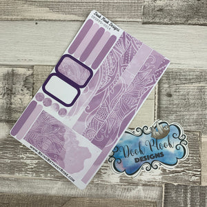 (0014) Passion Planner Daily stickers - Purple reflections