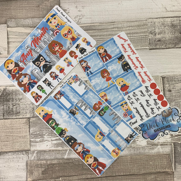 Superhero kit (can change month) Monthly View Kit for the Erin Condren Planners